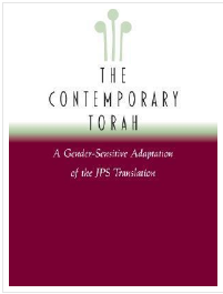 Contemporary Torah -  Book