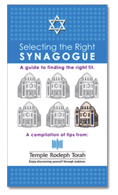 how to choose a synagogue