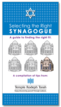 Selecting the Right Synagogue