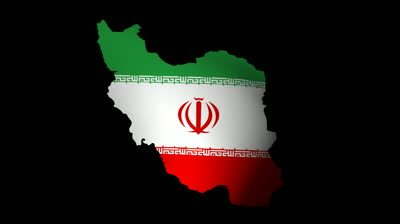 stock footage fluttering iran map flag animation